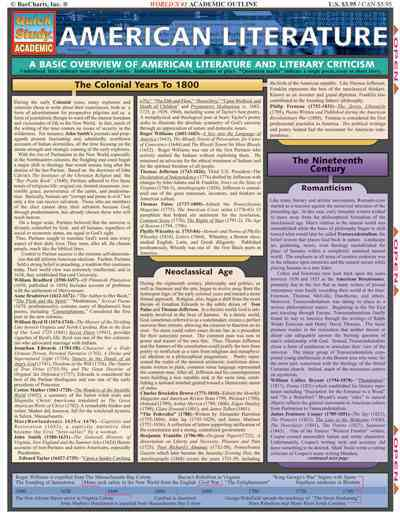 American Literature By Barcharts, Inc. (COR)/ Berner, Steve